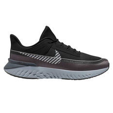 Nike Legend React 2 Shield Mens Running Shoes Black / Silver US 7, Black / Silver, rebel_hi-res