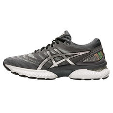 Asics GEL Nimbus 22 Platinum Mens Running Shoes Grey/Silver US 7, Grey/Silver, rebel_hi-res