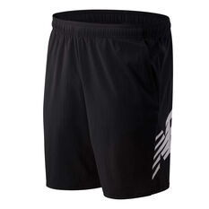 New Balance Mens Tenacity 9in Woven Shorts Black S, Black, rebel_hi-res