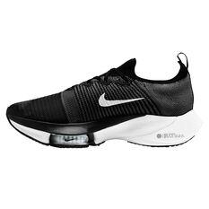 Nike Air Zoom Tempo Next% Mens Running Shoes Black/White US 7, Black/White, rebel_hi-res