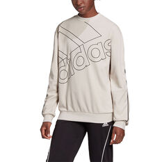 adidas Giant Logo Sweatshirt White XS, White, rebel_hi-res