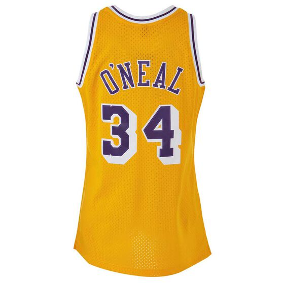uk availability d0994 b85af Mitchell & Ness Los Angeles Lakers Shaquille O'Neal 1996 / 97 Swingman  Basketball Jersey XL