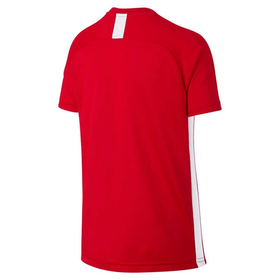 Nike Boys Dry Academy Football Top, Red / White, rebel_hi-res