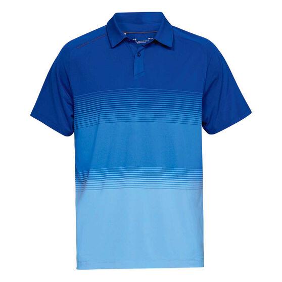 Under Armour Mens Threadborne Polo Shirt Blue S, Blue, rebel_hi-res