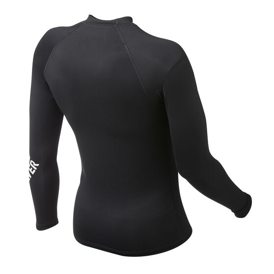 Quicksilver Mens All Time Long Sleeve Rash Vest, Black, rebel_hi-res