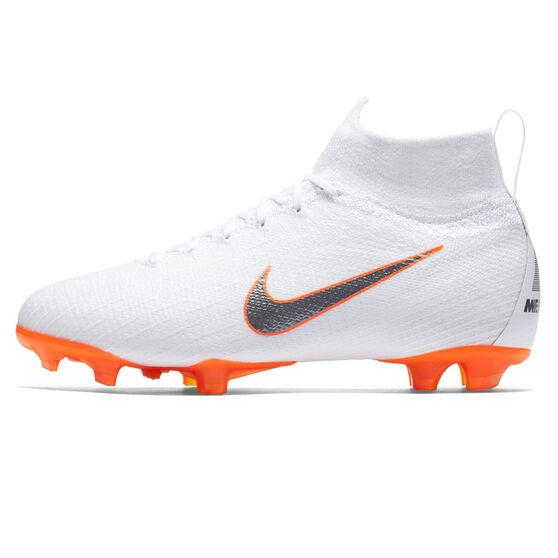 Nike Mercurial Superfly VI Elite Junior Football Boots, White / Grey, rebel_hi-res