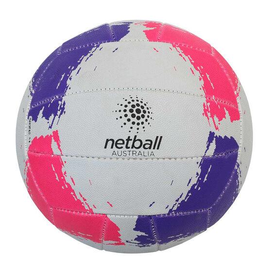 Netball Australia Netball White / Multi 4, White / Multi, rebel_hi-res