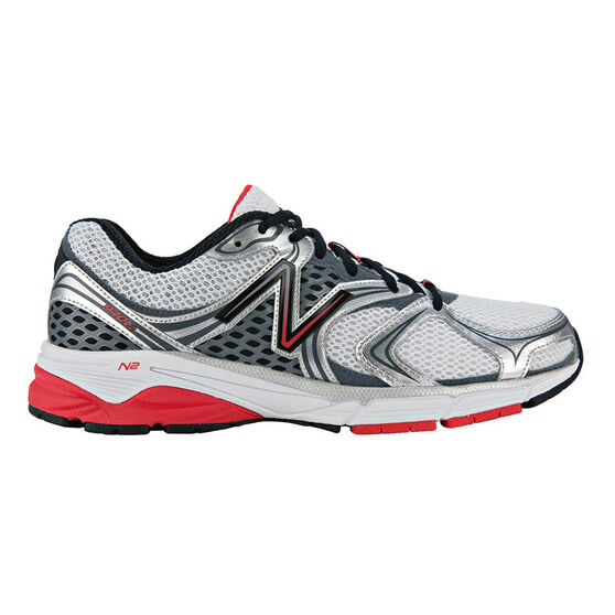 New Balance 940v2 Mens Running Shoes Sliver / Red US 10, Sliver / Red, rebel_hi-res