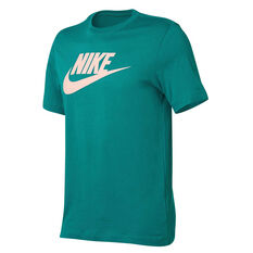 Nike Mens Sportswear Icon Futura Tee Green XS, Green, rebel_hi-res