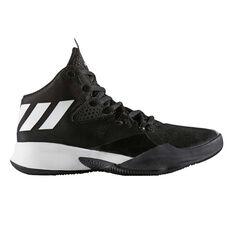 adidas Dual Threat Junior Basketball Shoes Black / White US 4, Black / White, rebel_hi-res
