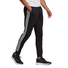 adidas Mens Volume Fleece 3 Stripes Tapered Track Pants Black XS, Black, rebel_hi-res
