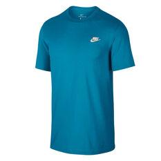 Nike Sportswear Mens Club Tee Blue XS, Blue, rebel_hi-res