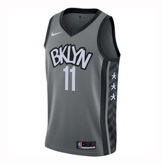 Nike Brooklyn Nets Kyrie Irving 2019/20 Mens Statement Edition Swingman Jersey Grey S, Grey, rebel_hi-res