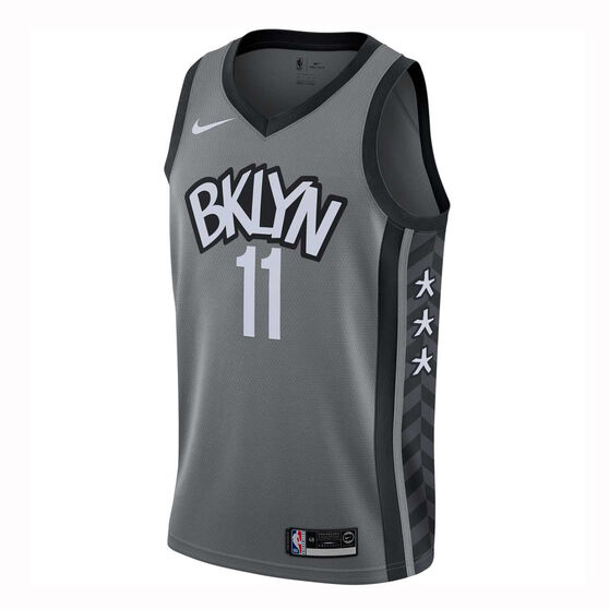 Nike Brooklyn Nets Kyrie Irving 2019/20 Mens Statement Edition Swingman Jersey Grey M, Grey, rebel_hi-res