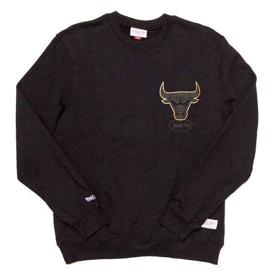 Chicago Bulls Mens 2019 Presto Crew Sweat Black XXL, Black, rebel_hi-res