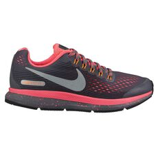 Nike Zoom Pegasus 34 Kids Running Shoes Grey / Pink US 4, Grey / Pink, rebel_hi-res