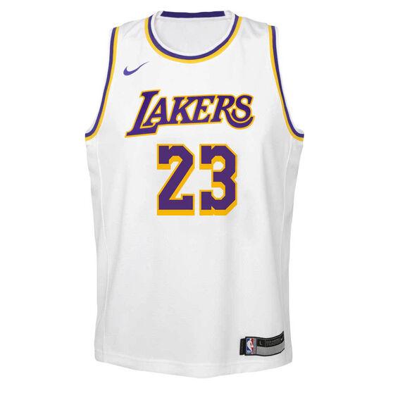 Nike Los Angeles Lakers LeBron James Association 2020/21 Kids Swingman Jersey, , rebel_hi-res