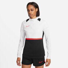 Nike Womens Dri-FIT Academy Drill Tee Black XS, Black, rebel_hi-res