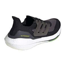 adidas Ultraboost 21 Mens Running Shoes, Black/Silver, rebel_hi-res