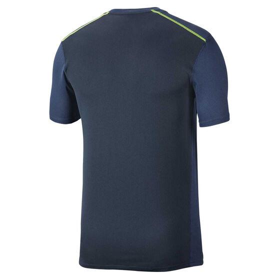 Nike Mens Dri-FIT Breathe Running Tee Black S, Black, rebel_hi-res