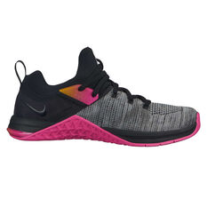 55246a5f86478 Nike Metcon Flyknit 3 Womens Training Shoes Black   Pink US 6
