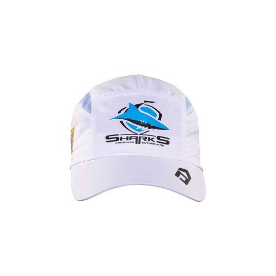 Cronulla-Sutherland Sharks 2020 Training Cap, White, rebel_hi-res