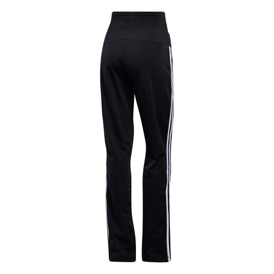 adidas Womens Tricot 3-Stripes Flare Pants, Black, rebel_hi-res