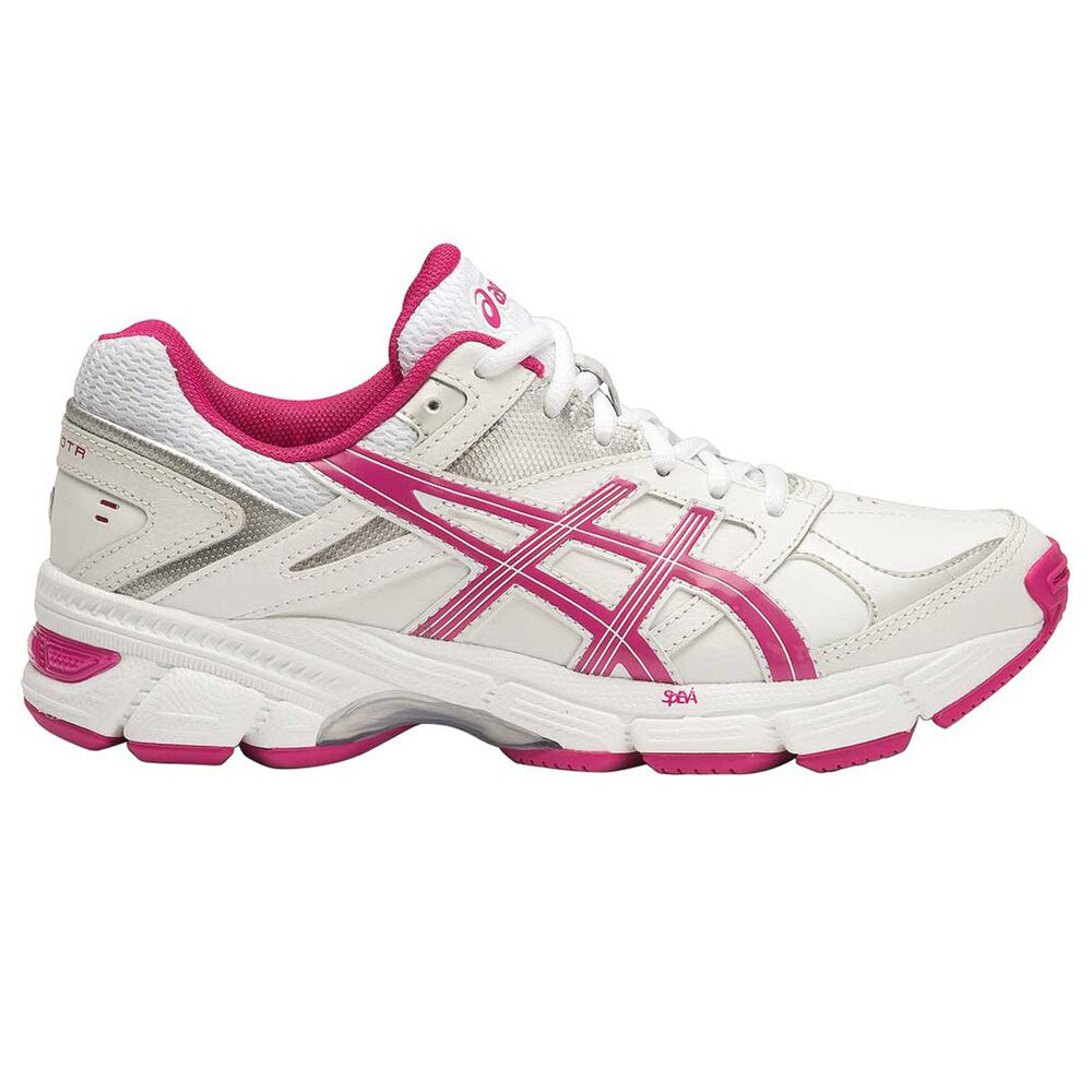 a878eb9da177 Asics Gel 190TR Womens D Leather Cross Training Shoes White   Pink US 7