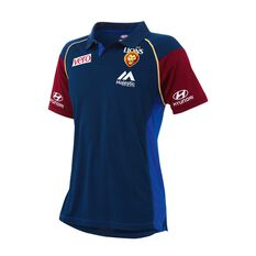 Brisbane Lions 2018 Mens Media Polo Shirt, , rebel_hi-res
