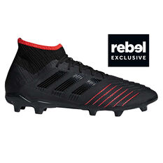 adidas Predator 19.2 Mens Football Boots Black / Red US 7, Black / Red, rebel_hi-res
