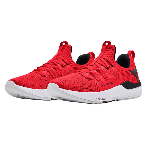 Under Armour Project Rock BSR Mens Training Shoes, Red/White, rebel_hi-res