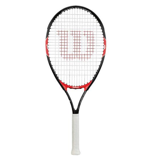 Wilson Federer 26in Junior Tennis Racquet Black / Red 26in, , rebel_hi-res