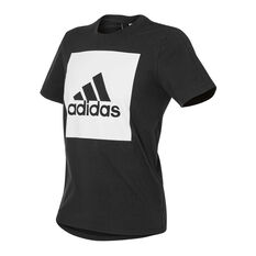 adidas Mens Essentials Box Logo Tee Black S, Black, rebel_hi-res