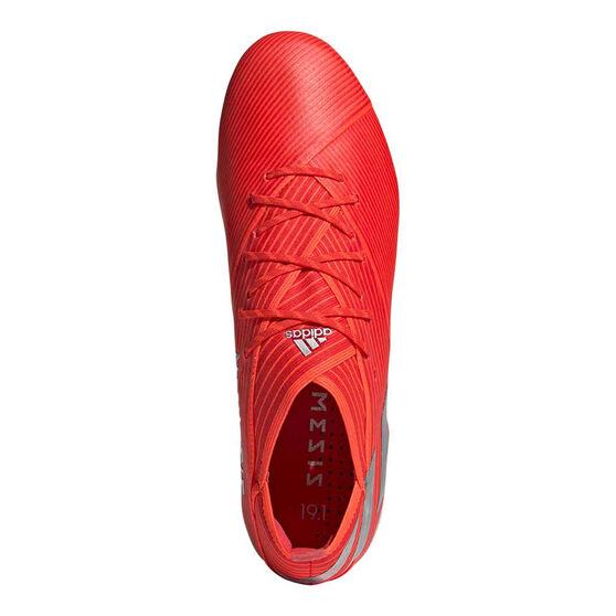 adidas Nemeziz 19.1 Football Boots, Red / Silver, rebel_hi-res