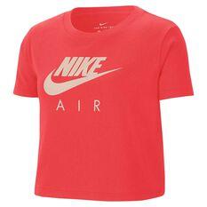 Nike Girls Sportswear Air Crop Tee, Red, rebel_hi-res