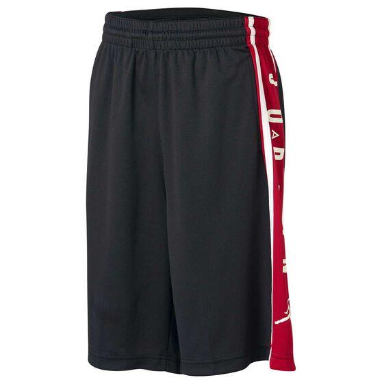 Nike Boys Air Jordan HBR Shorts, Black / Red, rebel_hi-res