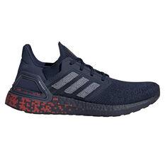 adidas Ultraboost 20 Mens Running Shoes Navy/White US 7, , rebel_hi-res