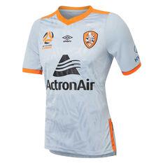 Brisbane Roar 2019/20 Mens Away Jersey Grey / Orange S, Grey / Orange, rebel_hi-res