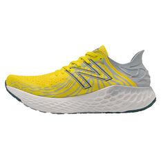 New Balance 1080v11 Mens Running Shoes Yellow US 7, Yellow, rebel_hi-res