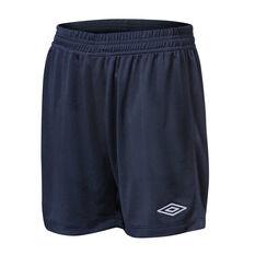 Umbro League Kids Football Shorts Navy XS, Navy, rebel_hi-res