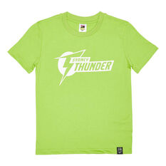Sydney Thunder 2020/21 Kids Mono logo Tee Green 8, Green, rebel_hi-res