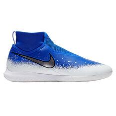 Nike Phantom Vision Pro React Indoor Soccer Shoes Blue / Black US 9 / Wo10.5, Blue / Black, rebel_hi-res