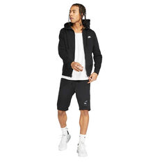 Nike Mens Sportswear Club Fleece Full-Zip Hoodie, Black, rebel_hi-res