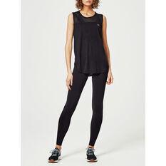 Running Bare Womens High Rise Full Length Tights Black 8, Black, rebel_hi-res