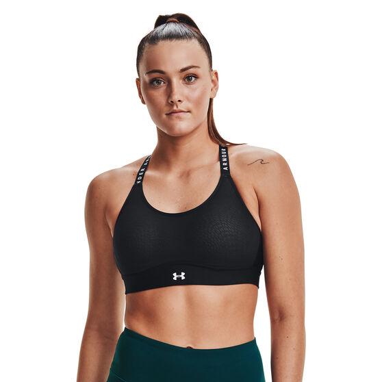 Under Armour Womens Infinity Mid Sports Bra, Black, rebel_hi-res
