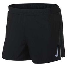 Nike Mens Fast 4in Running Shorts Grey S, Grey, rebel_hi-res
