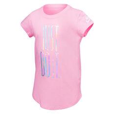 Nike Girls Just Do It Rise Tee Pink 4, Pink, rebel_hi-res