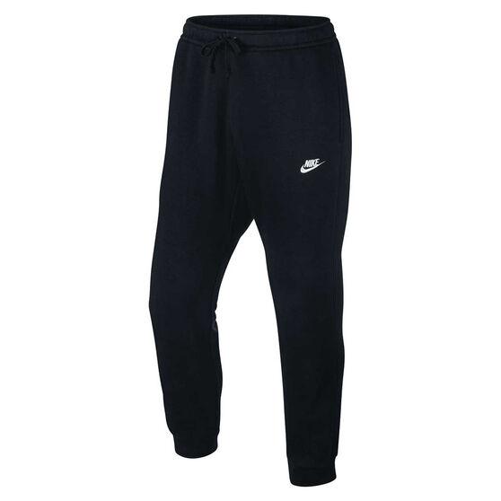 Nike Mens Sportswear Jogger Club Pants Black / White XXL Adult, Black / White, rebel_hi-res
