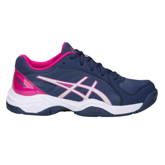 Asics Gel Netburner 19 Girls Netball Shoes, Navy / Pink, rebel_hi-res