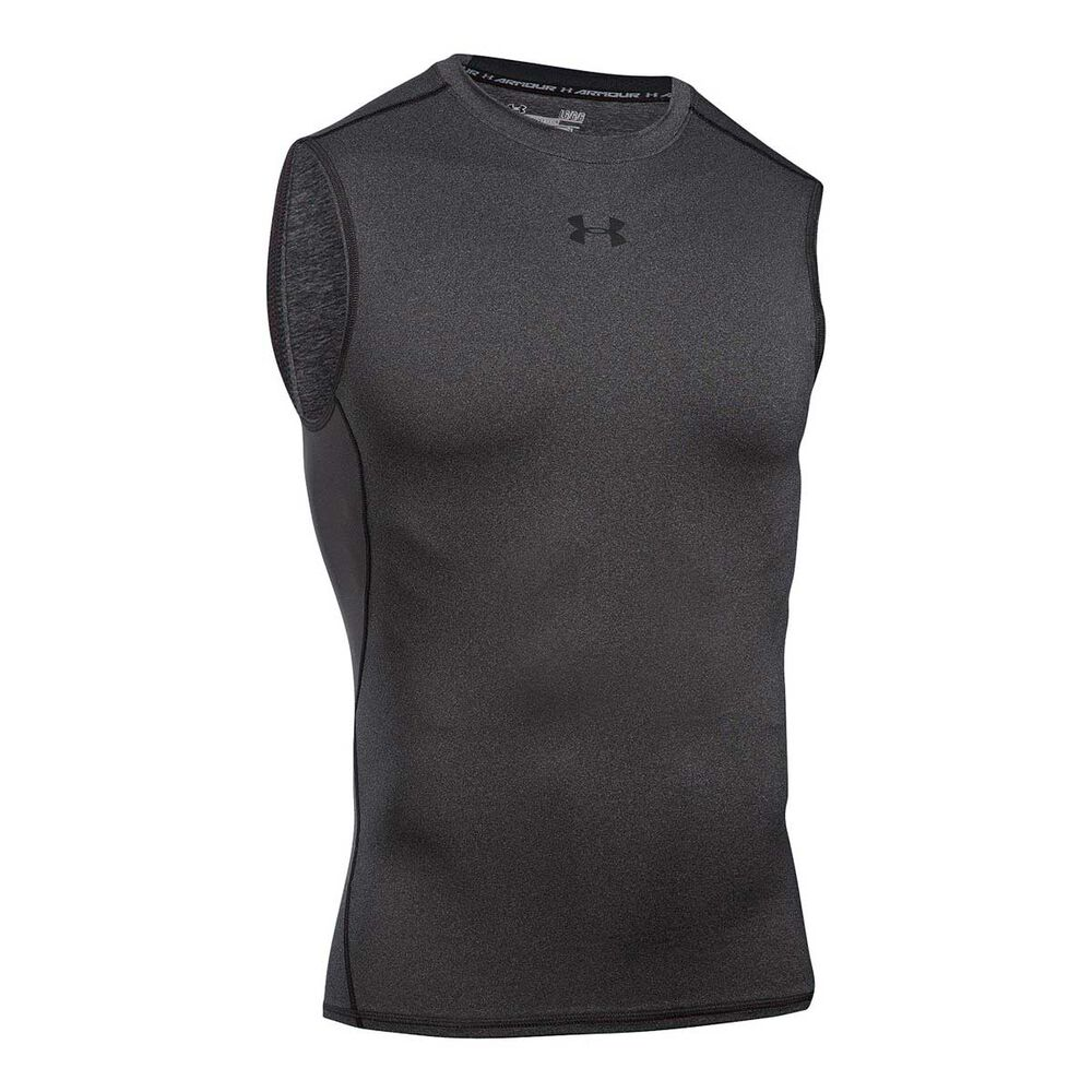 486dadc94 Under Armour Mens HeatGear Armour Sleeveless Compression Top Navy / Grey  XXL Adult, Navy /